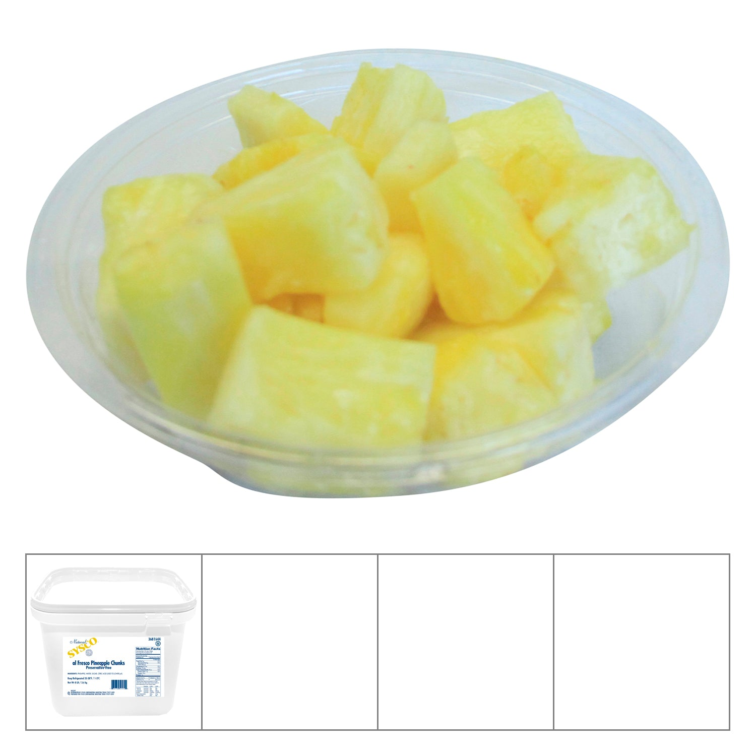 Sysco Imperial Syrup Pineapple Chunk 8 lb - 1 Pack [$3.62/lb]