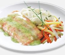 High Liner Frozen Creamy Dill Salmon Portions 5 oz - 10 lb - 1 Pack [$9.55/lb]