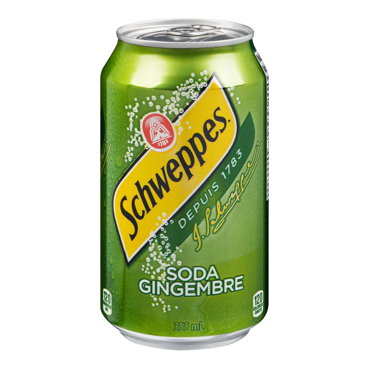 Schwepps Ginger Ale Soft Drink Can 355 ml - 12 Pack [$0.44/each]