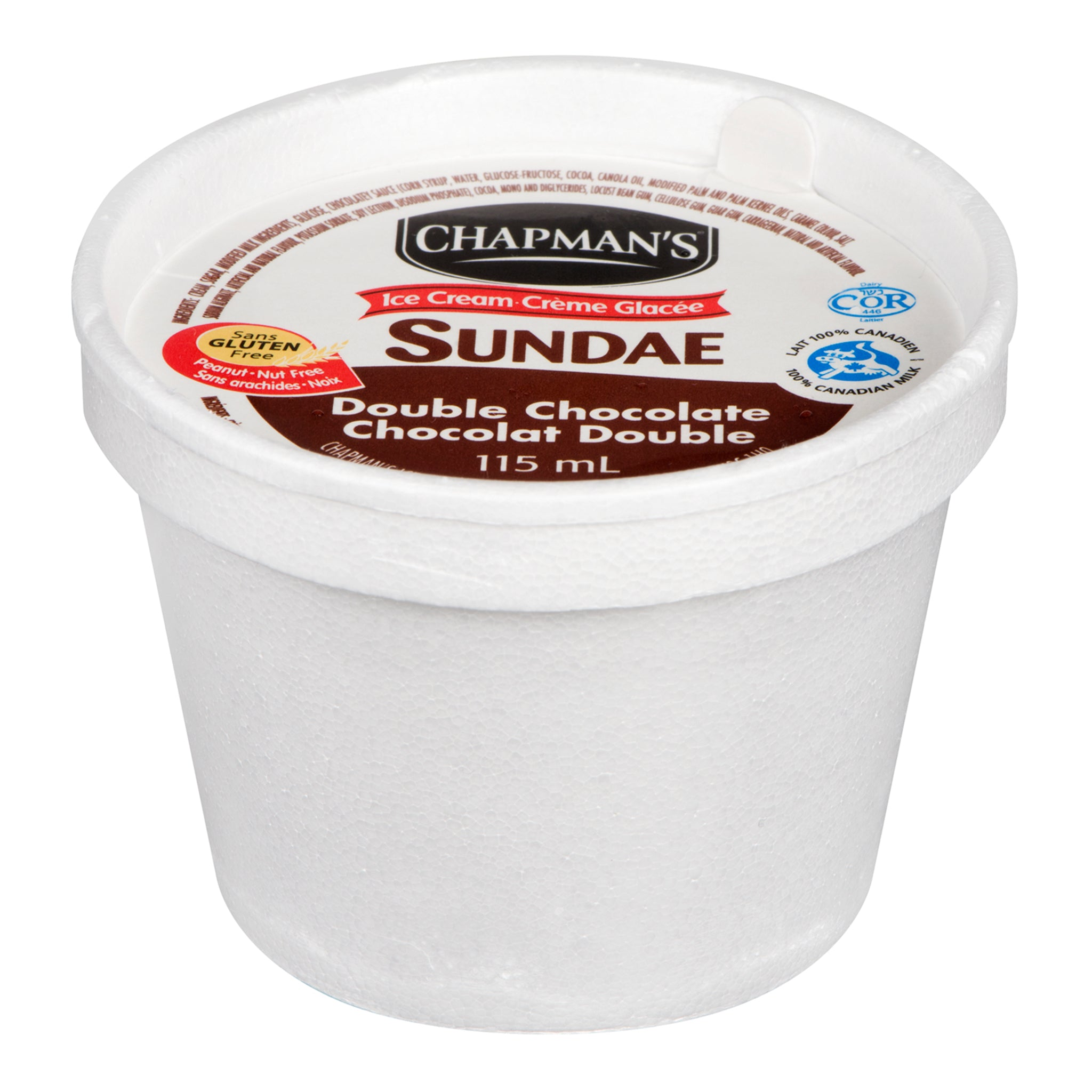 Chapman's Chocolate Ice Cream Cups 115 ml - 24 Pack [$0.50/cup]
