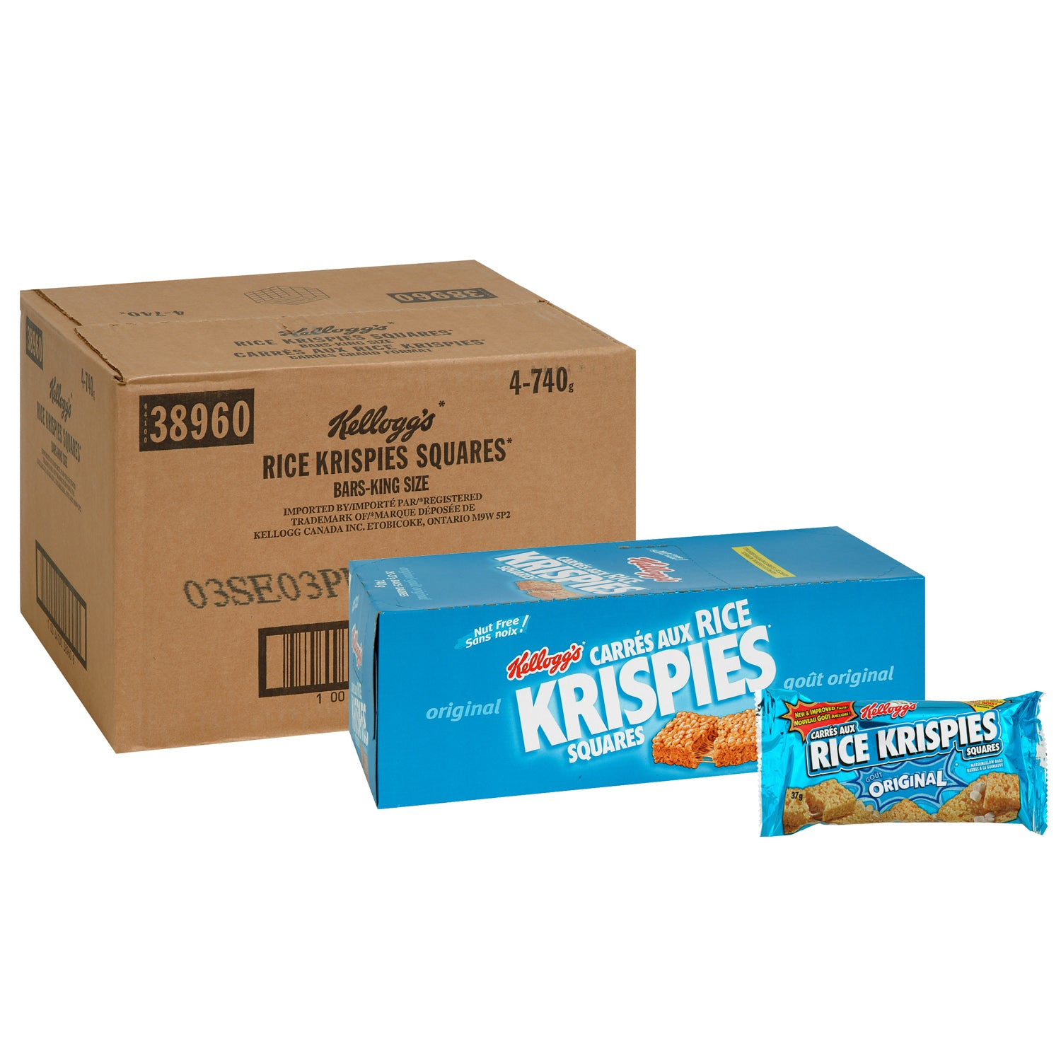 Kellogg's Rice Krispies Squares 37 g - 80 Pack [$0.69/each]
