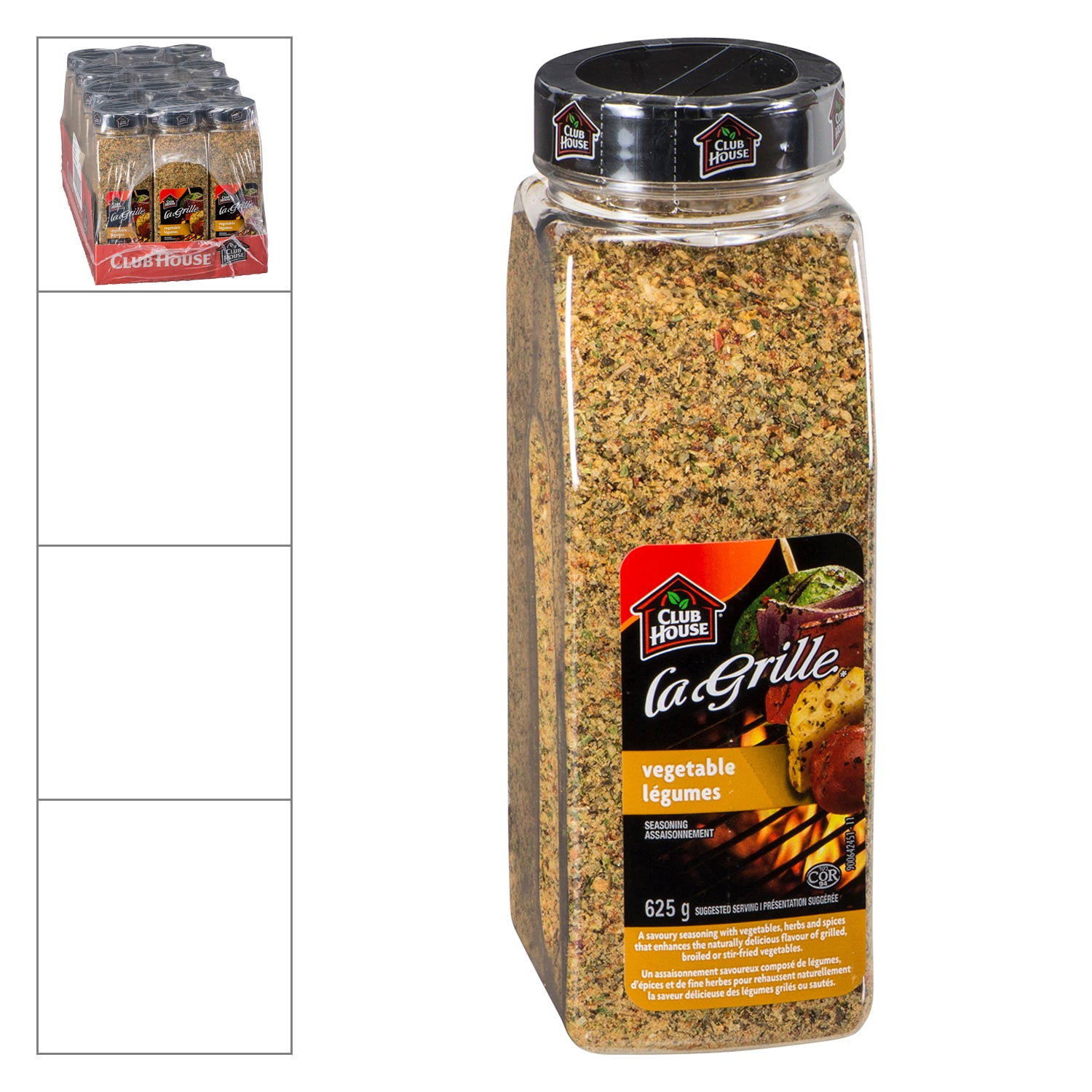 Club House La Grille Vegetable Seasoning 625 g - 12 Pack [$16.50/each]