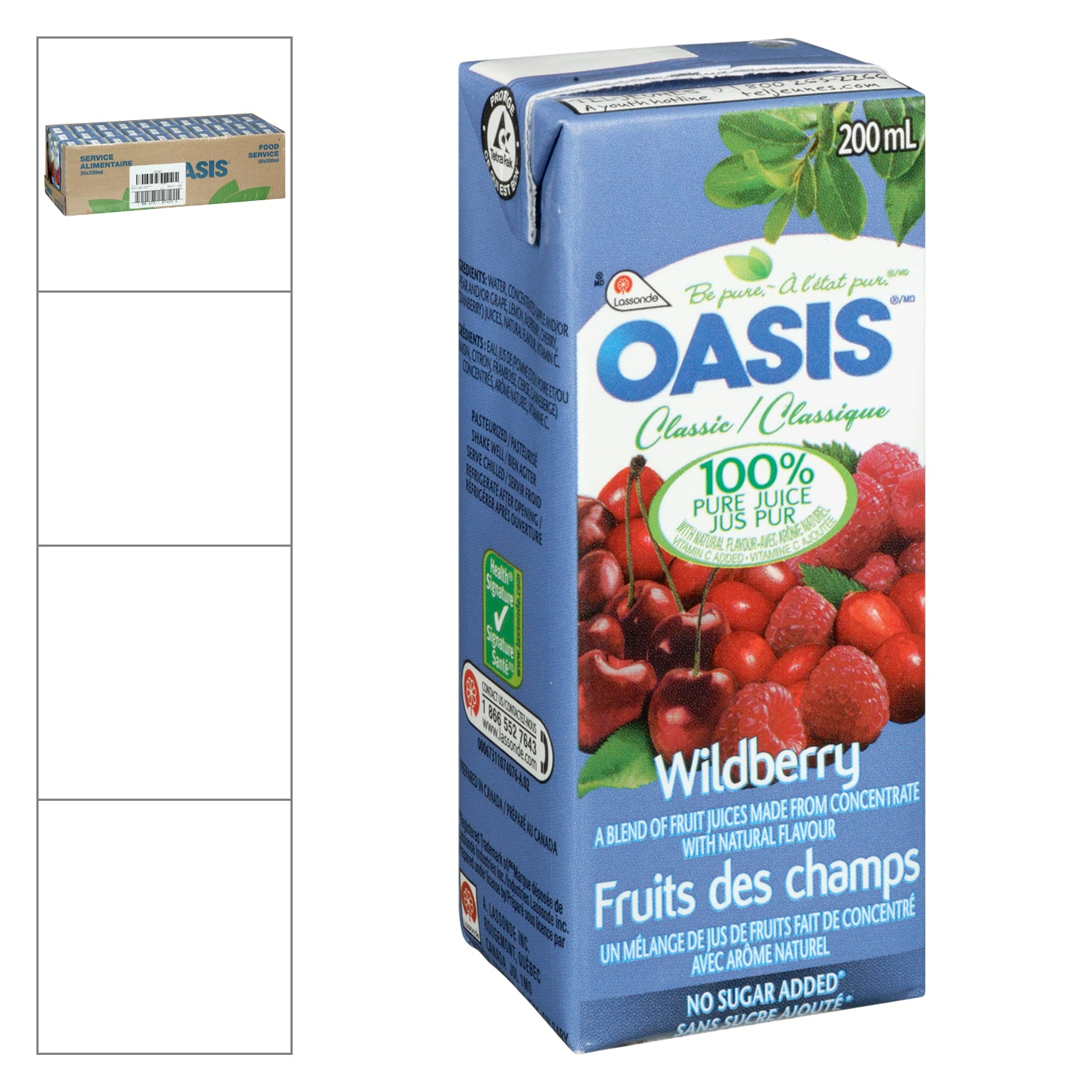 Oasis Berry Punch Tetra Pack 200 ml - 30 Pack [$0.60/each]