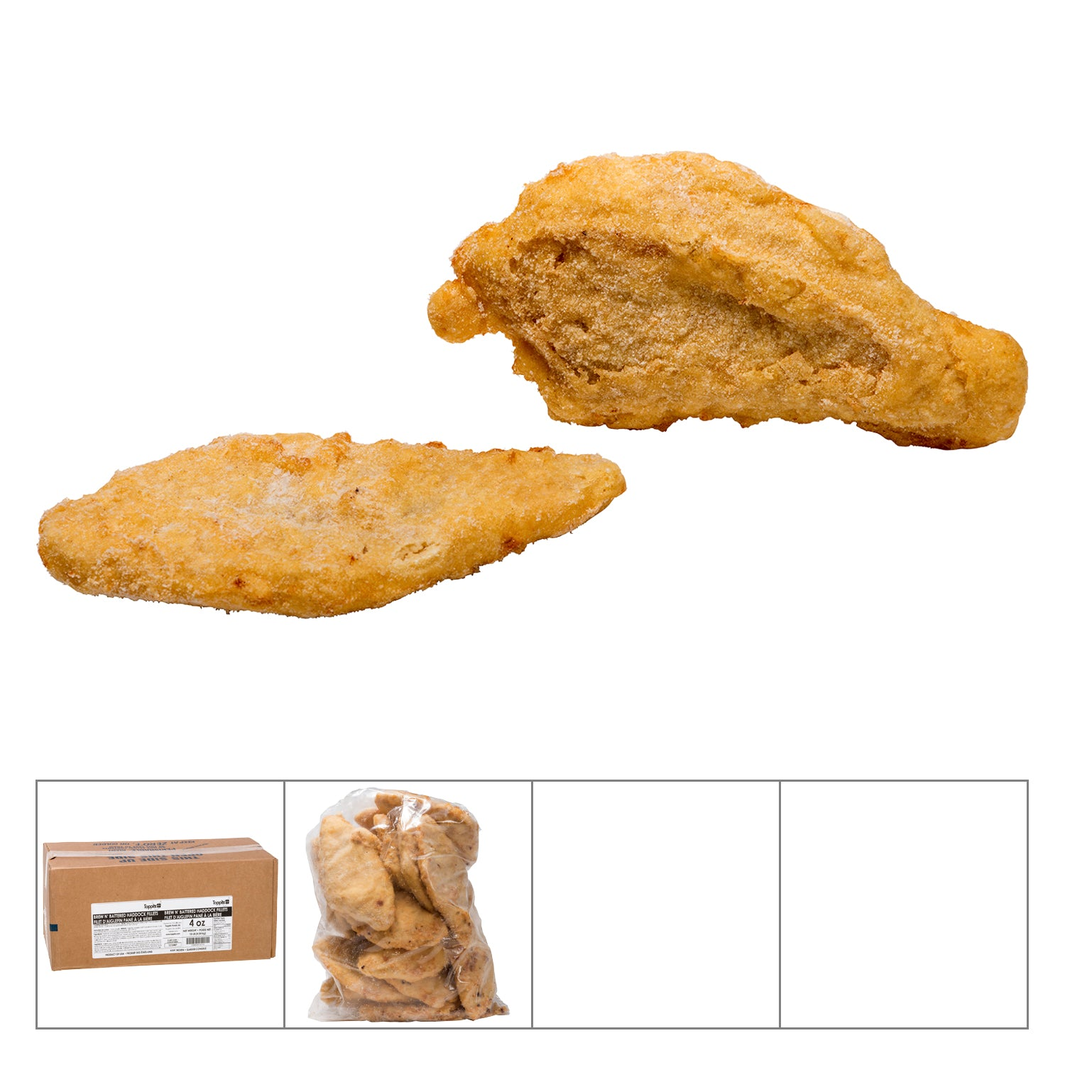 Toppits Frozen Battered Haddock 4 oz - 1 Pack [$9.25/lb]