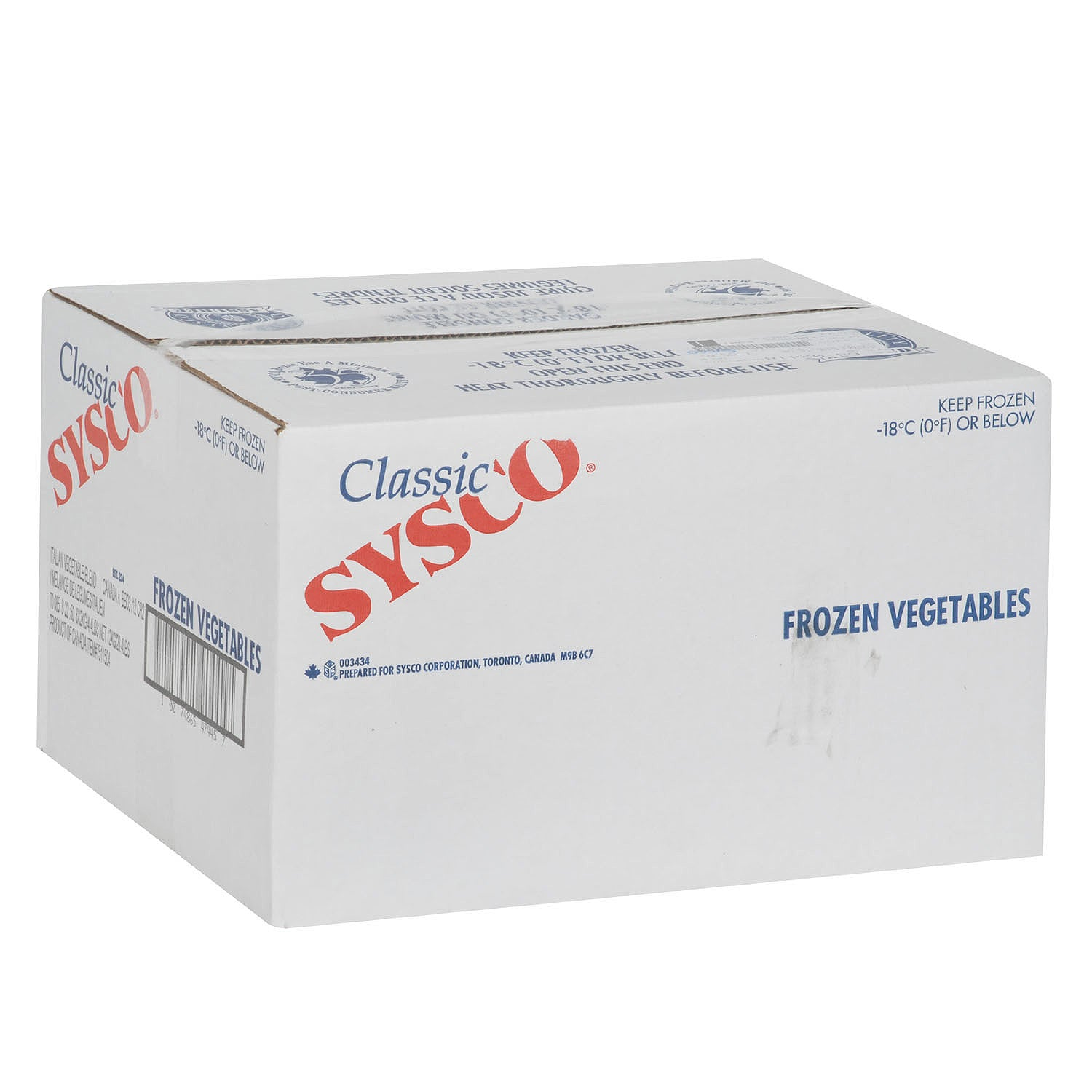 Sysco Classic Frozen Italian Blend Mixed Vegetables (Carrots/Zucchini/Cauliflower/Romano & Lima Beans/Red Peppers) 2 kg - 6 Pack [$3.58/kg]