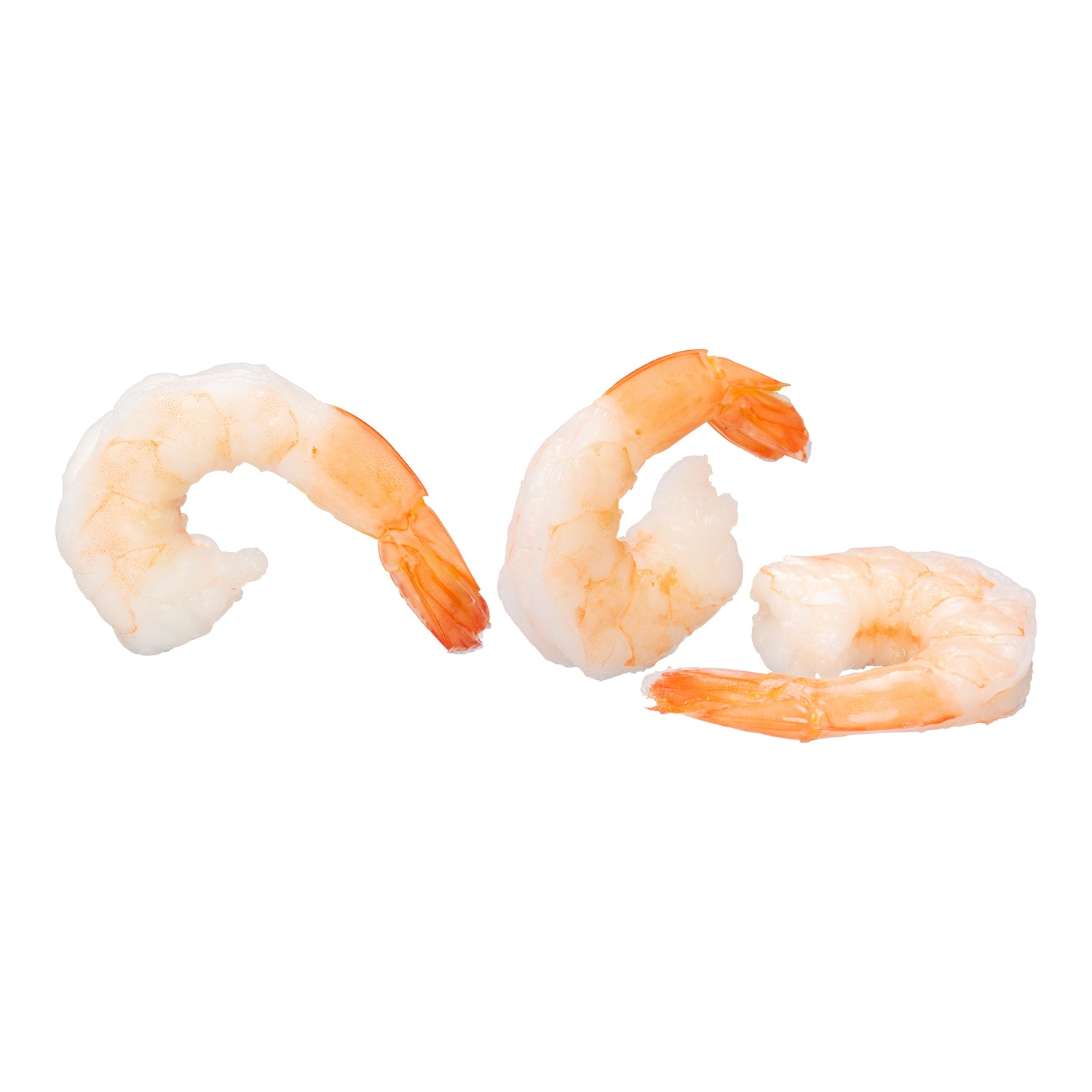 IFC Individually Quick Frozen White Shrimp Peeled & Deveined Tail On 2 lb Fully Cooked - 5 Pack [$12.50/lb]