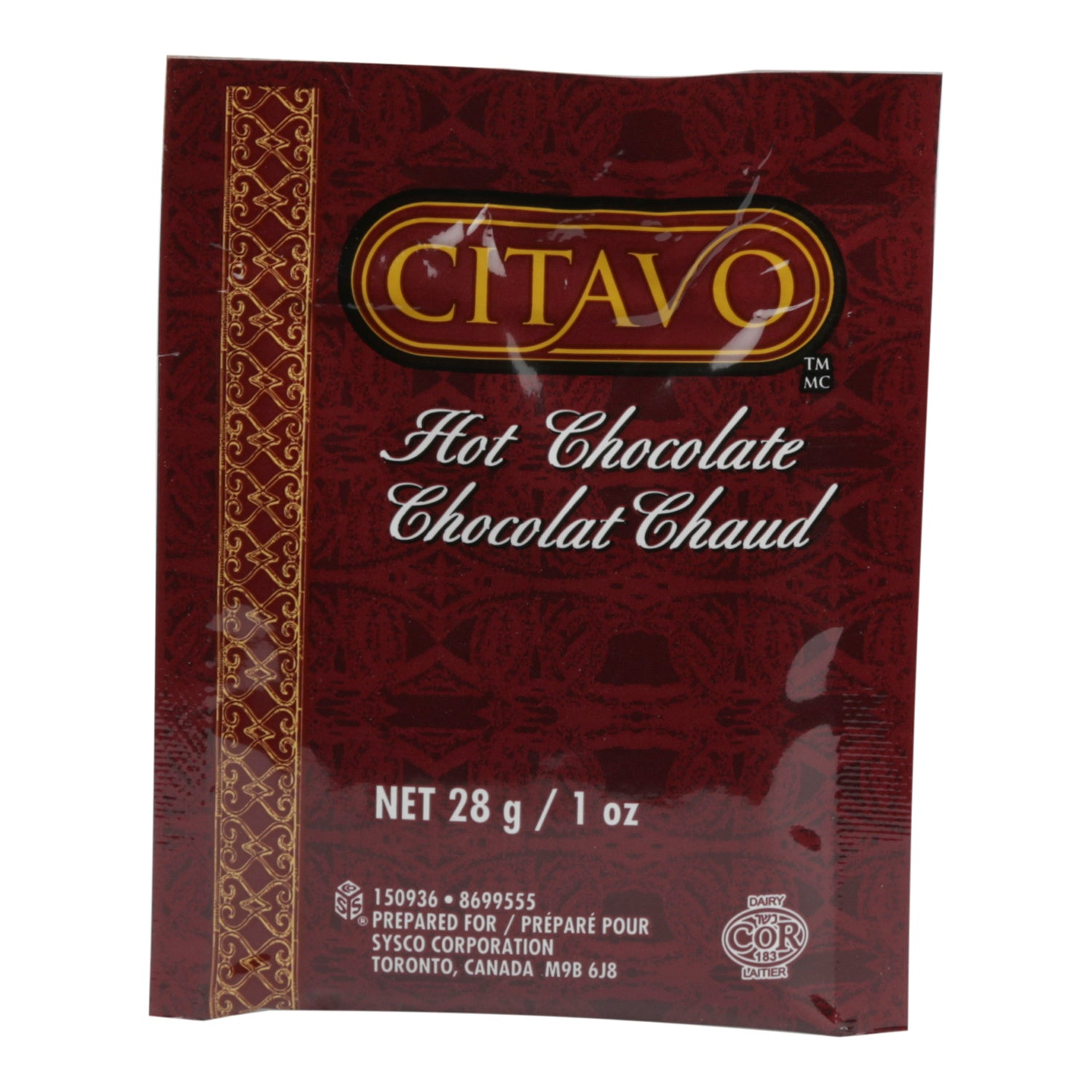 Citavo Hot Chocolate Mix - 100 Pack [$0.38/each]