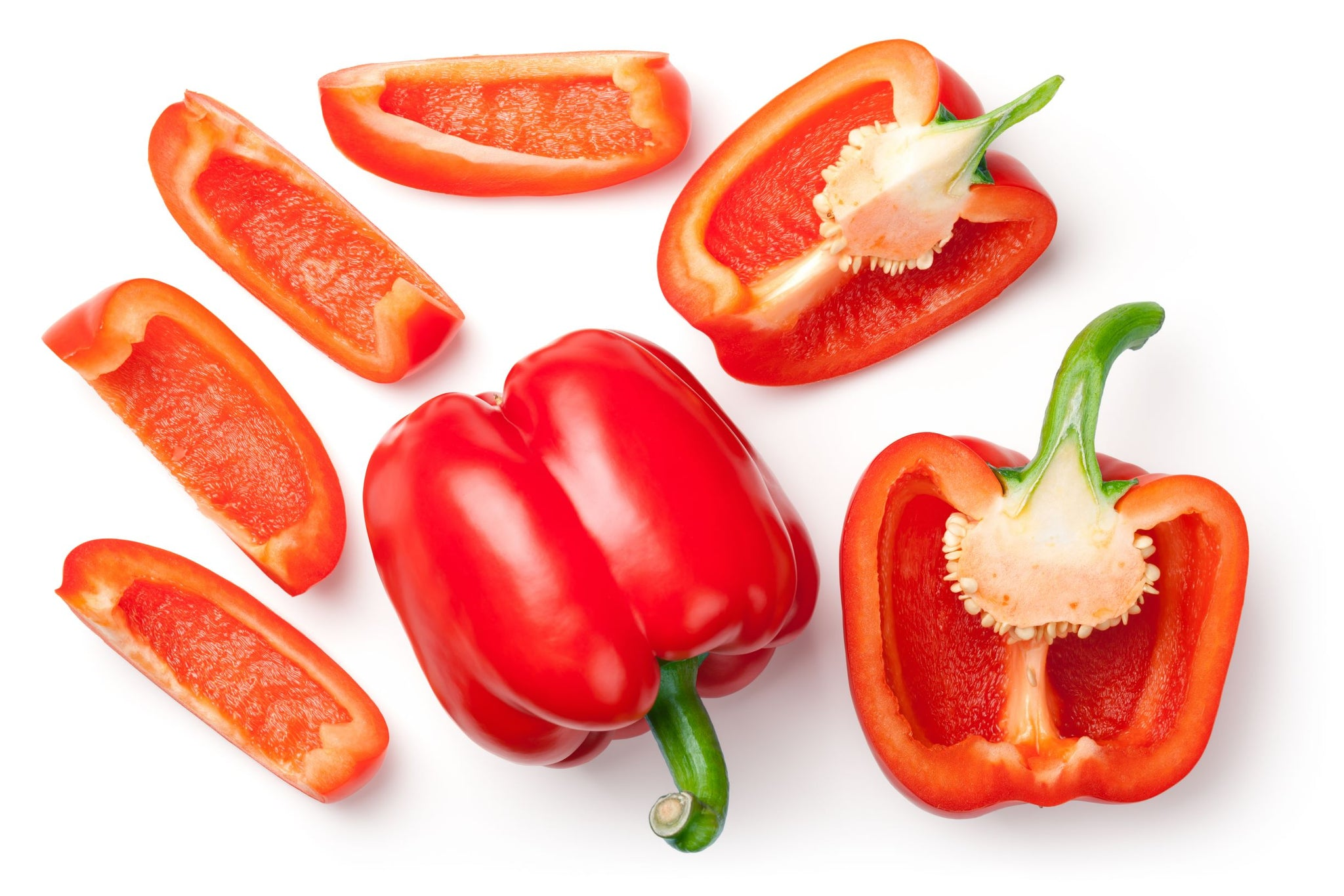 Sysco Imperial Fresh Red Bell Peppers Large 5 lb - 1 Pack [$4.30/lb]