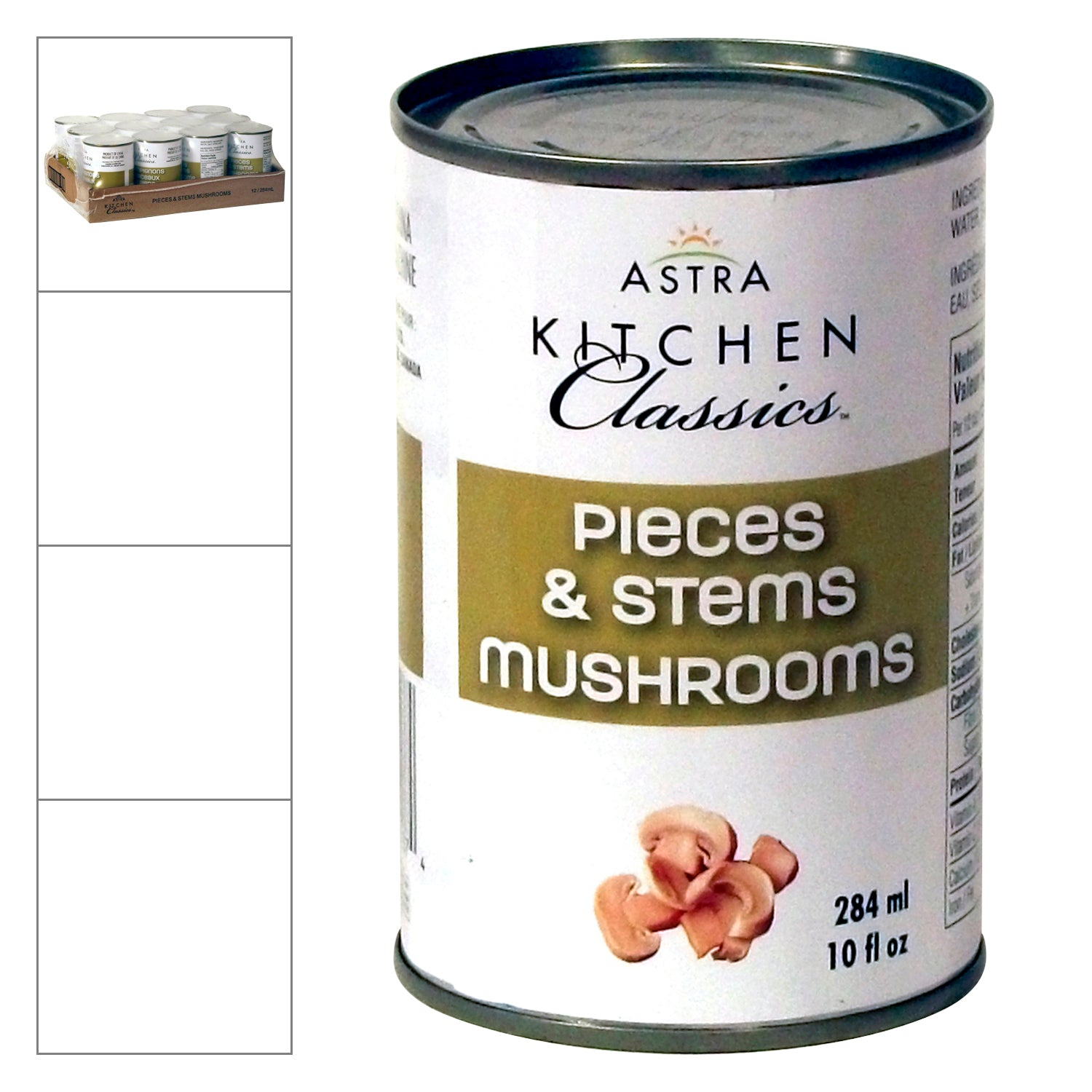 AKC Mushroom Stems & Pieces 284 ml - 12 Pack [$1.37/can]
