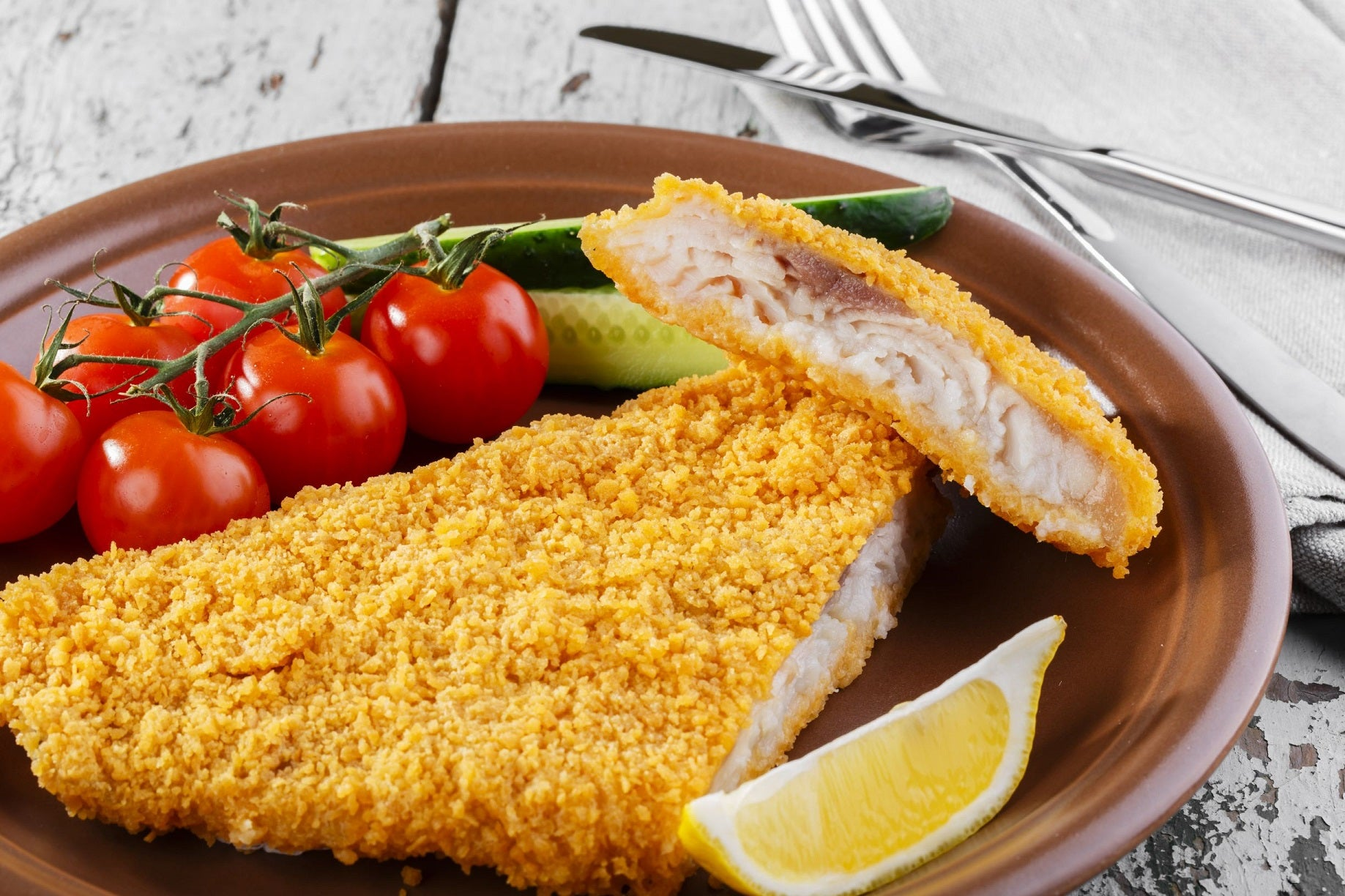 Toppits Frozen Lemon Seasoned Sole Fillets 3.60 oz Portion Gluten Free - 44 Pack [$2.27/fillet]