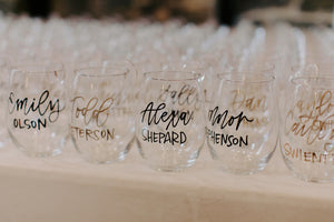 wine glass escort display