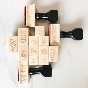Custom Logo Stamp (wooden or self-inking)