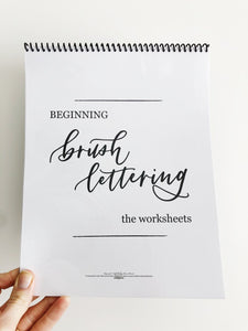 Beginning Brush Lettering, the workbook and tools