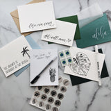 tropical greeting card pack