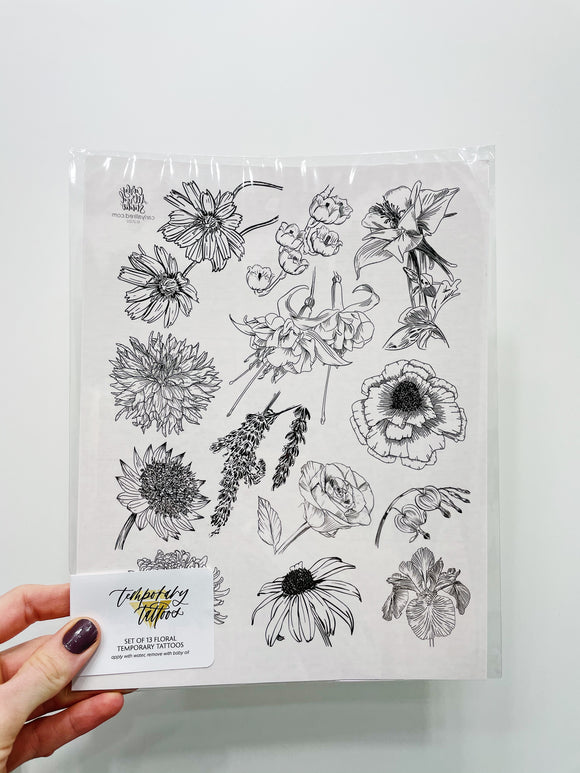 Tattoos - Floral Sheet