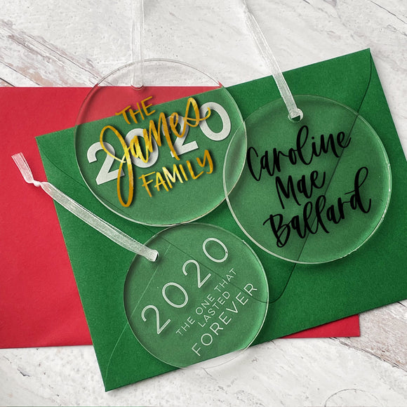 Personalized Acrylic Ornaments - Thick