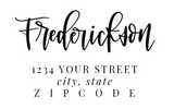 Custom Hand-Lettered Address Stamp -- Wooden