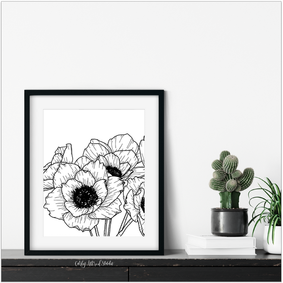 Anemone Floral Archival Print
