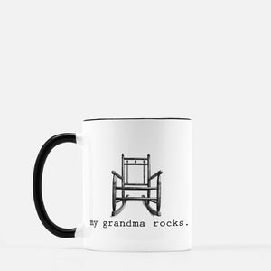 "Coffee Mug ""My Grandma Rocks"""