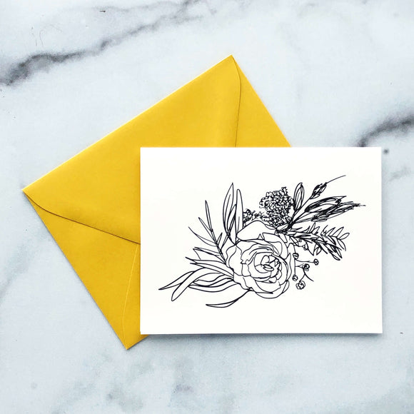Greeting Card - Boho Floral Bouquet