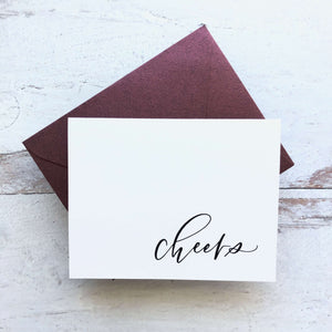 "Greeting Card ""Cheers"""
