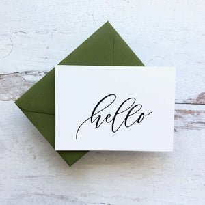 "Greeting Card ""hello."""
