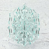 green edge glass acrylic ornament