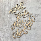 Laser-cut Calligraphy Place Cards or Name Tags - Multiple Options