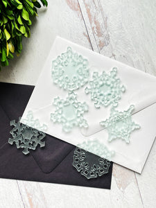 Tiny Snowflake Ornaments - Set of 6