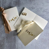 Foil Pressed Vow Books (Set of 2)