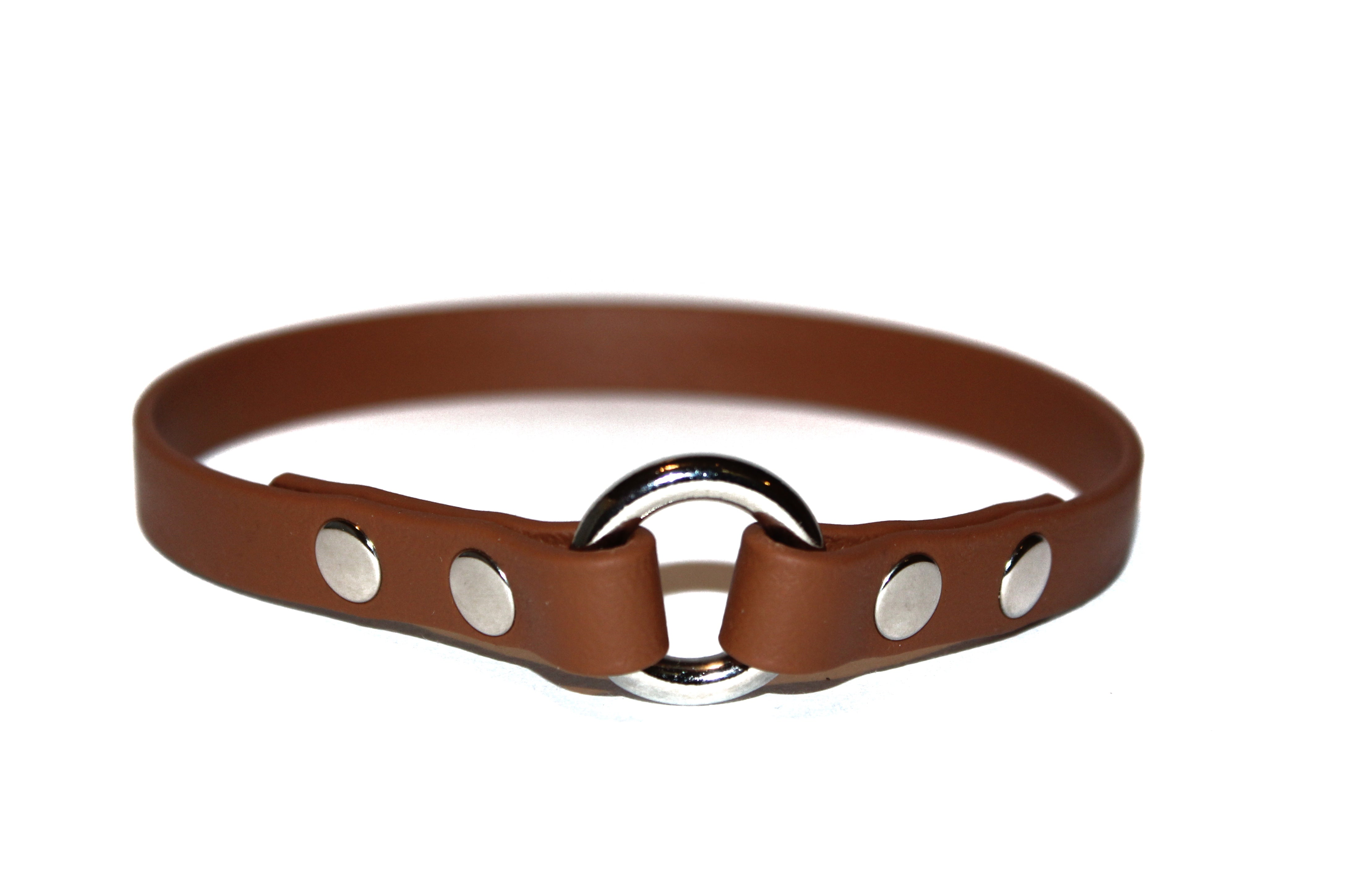 "Pumpkin Spice • ID Collar • Size 15"" • Nickel Plated • 1/2"" Wide"