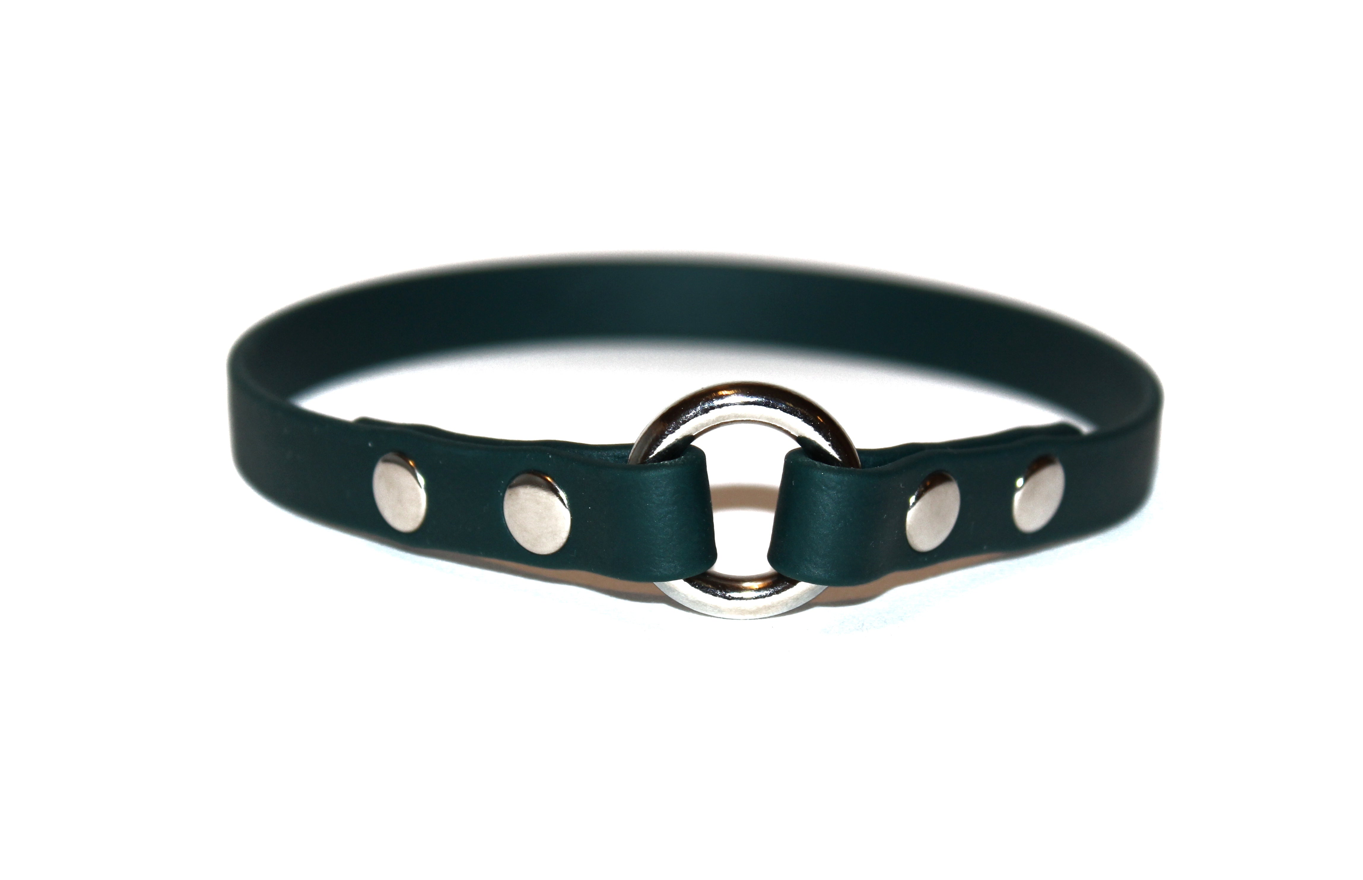 "Woodland Adventures • ID Collar • Size 15.5"" • Nickel Plated • 1/2"" Wide"