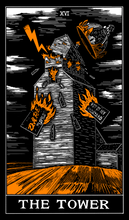 Load image into Gallery viewer, Blanket - Tower Tarot Card