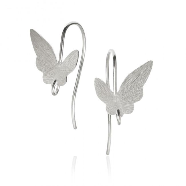 Butterfly earrings with hook.