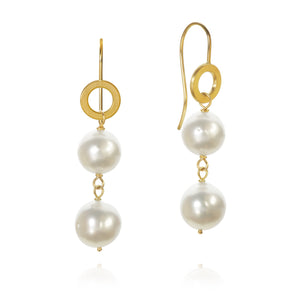Ocean pearl earrings. With baroque South Sea pearls.