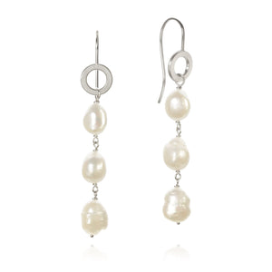 Ocean pearl earrings. With baroque freshwater pearls.