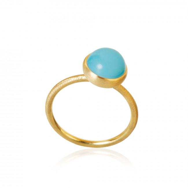 Pacific ring. Small top, with turquoise.
