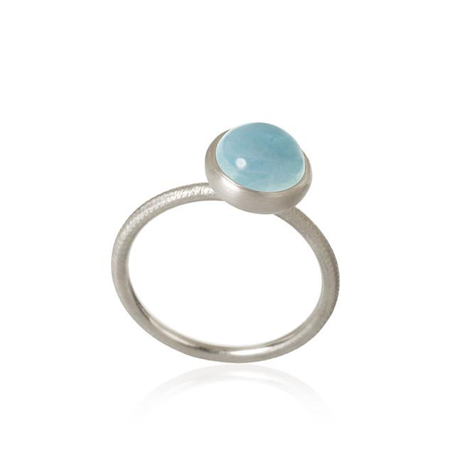 Pacific ring. Small top, with aquamarine.
