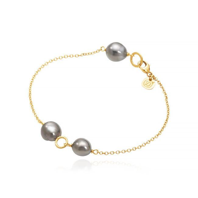 Piccolo bracelet. With tahiti pearls.