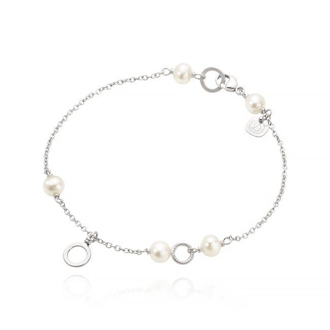 Piccolo bracelet. With freshwater pearls.