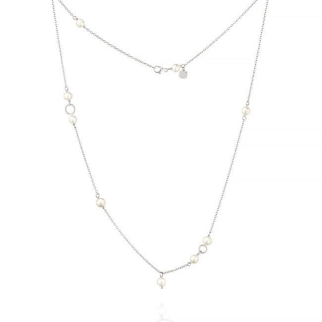 Piccolo necklace. With freshwater pearls, 47 cm.