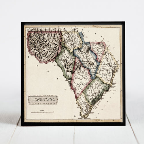 1817 Map of South Carolina