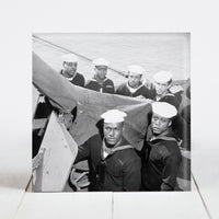 Gun crew of 8 US Navy sailors who were given the Navy Cross