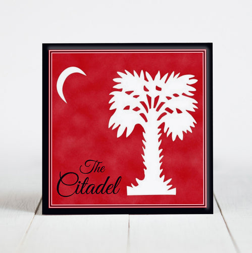 Big Red - The Citadel Flag with Black Border