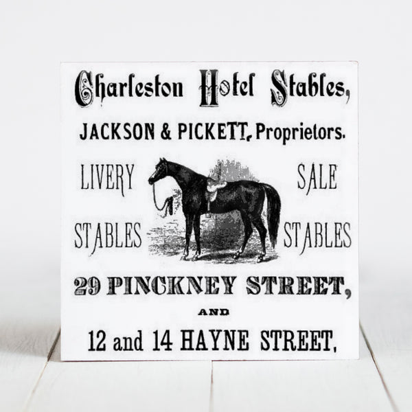 Charleston Hotel & Stables - Pinckney and Hayne St., Charleston SC  c.1800s