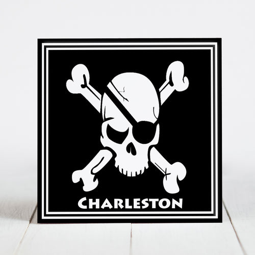 Charleston Pirate Skull and Crossbones