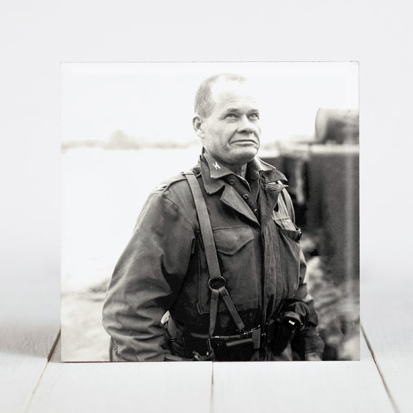 "Colonel Lewis B. ""Chesty"" Puller, CO 1st Marines. Nov. 22, 1950 at Chigyong, Korea"