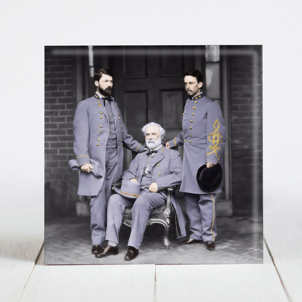 Robert E. Lee with son, GWC Lee and Col. Walter Taylor c.1865