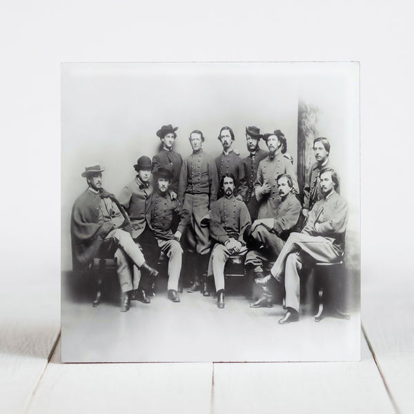 Confederate Col. John Singleton Mosby aka Gray Ghost, with 48 Virginia Battalion c.1865