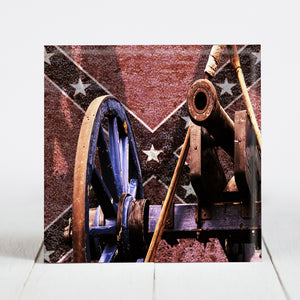 Confederate Flag with Cannon